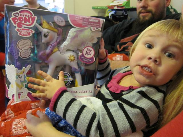 Christmas 2012 - Avery has a pony too